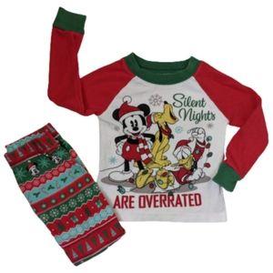 Disney Mickey Mouse Pajama Set Size 2